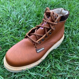 Ladies work Boots 100% Leather Brown Made n Mexico